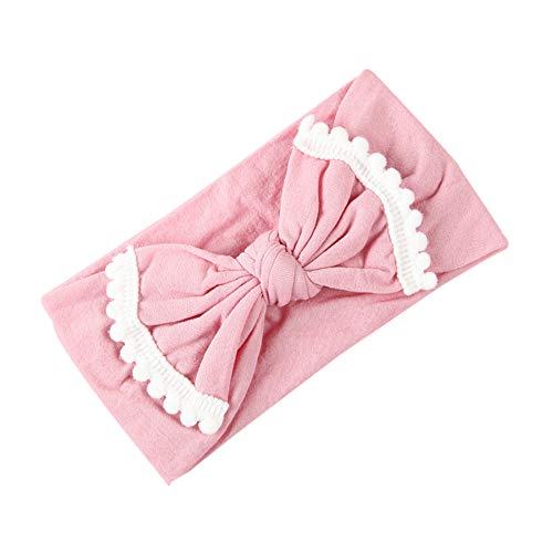 (Ears Baby Haarband Baby Zubehör europäisches und amerikanisches heißes superweiches Komfortables Babyhaar mit hochwertigem chinesischem Knoten-Haarband für Kinder Mädchen einfarbig Haarband)