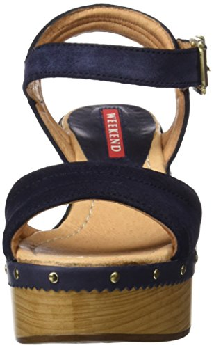 WEEKEND BY PEDRO MIRALLES Damen 17303 Plateausandalen Blau (Navy)
