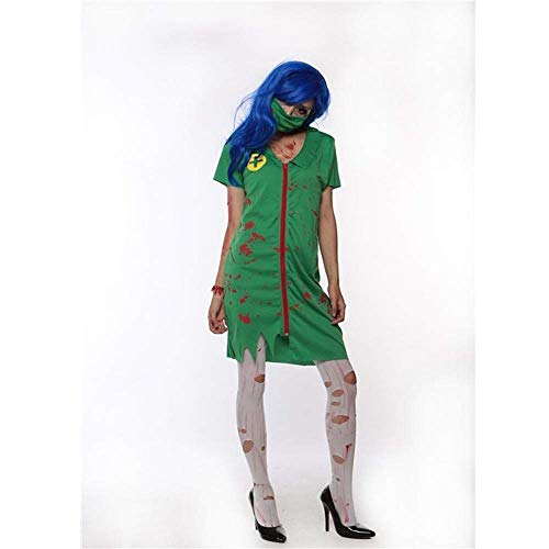 en Bloody Nurse Kostüm Horror Zombie Dress Mask Krankenschwester Uniform Dress Adult Damen Kostüm ()