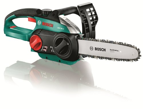 Bosch AKE 30 LI Cordless Chainsaw Without Battery and Charger, 30 cm Bar Length