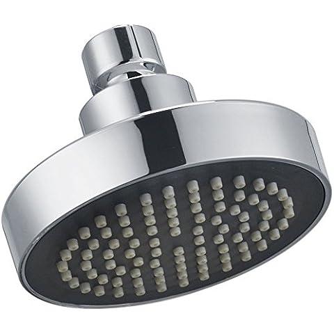 KES J335 Cabeza de ducha de repuesto, 10 cm, montaje fijo, cromo pulido