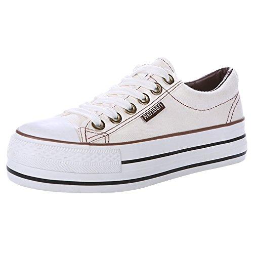 Renben Plataforma clásicos Zapatos de la zapatilla baja de la cuña...