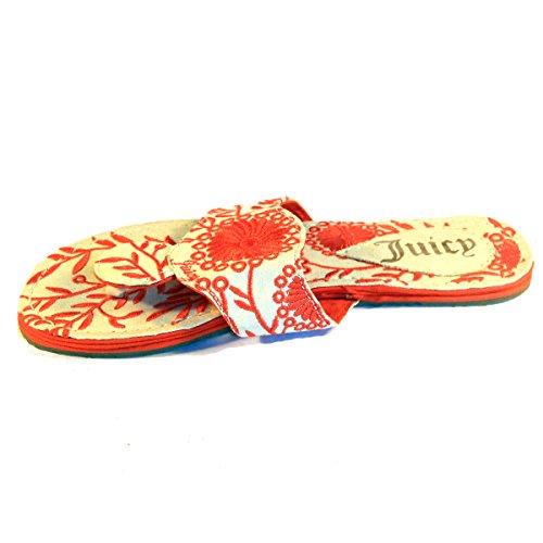 Jus couture à plat Taille UK 3,5 Orange - Orange/blanc