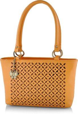 Butterflies Women\'s Handbag (Mustard) (BNS 0539LMSD)