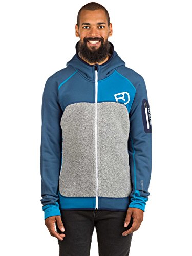 Ortovox Herren Fleece Plus Hoody, Night Blue, L