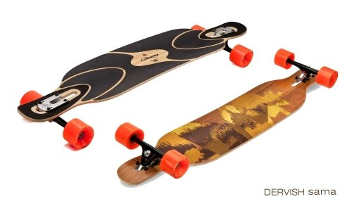 Loaded Dervish Sama Flex 1 New 2015 Graphic Complete Longboard With Paris V2 Trucks, Orangatang Stimulus Wheels by - 1 Sama Dervish Flex