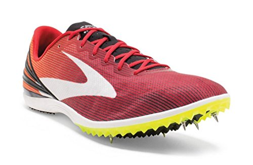 Brooks  Mach 17 Spike, Baskets pour homme Rouge