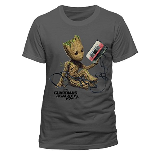 Beats & More Guardians of The Galaxy Vol 2 - Groot & Tape-record (Unisex) Grau (XL)