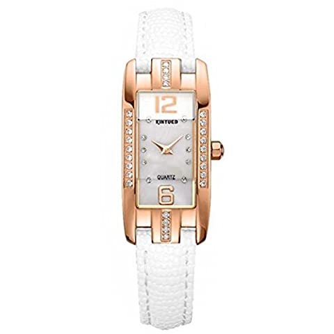 BIAOSHOU® Regarder Diamond Ladies Watch Cuir Mode Carré Étanche Ripstop , 2