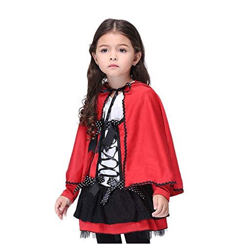 WYY-MY Halloween Kostüm Kinder Mantel Kostüm Girl Red Little Devil Cosplay Performance,Rot,S (Kind Devil Girl Kostüm)
