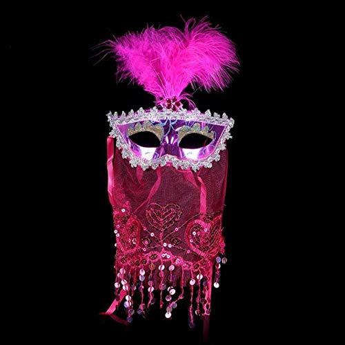 Black Beauty Feder Maske - Maske Wbd 1pcs Frauen Sexy Lange