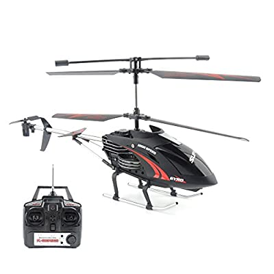 GizmoVine 505 RC Helicopter 3.5-Channel Full-Scale Tele with Gyroscope 2.4GHZ Remonte Control Aircraft RC Quadcopter (Black) by GizmoVine