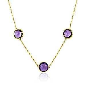 Tous mes bijoux - Collier court - Or jaune 9 cts - Améthyste - 45 cm - COHR01004