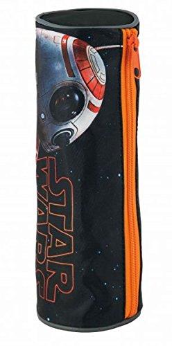 Star Wars Schlampermäppchen orange grau mit Roboter BB8 Aufdruck