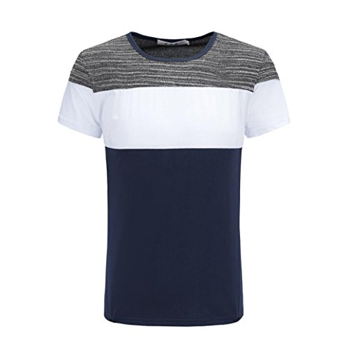 KPILP Mens Casual Shirt Striped T-Shirt Father's Day Gift Tops