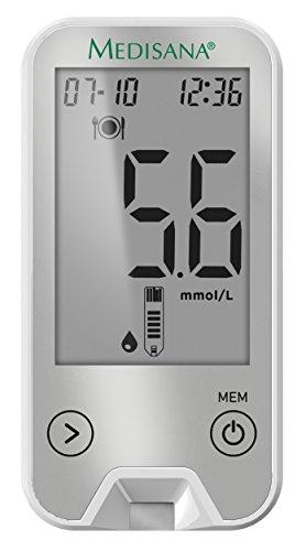 Medisana MediTouch 2 Blutzuckermessgerät mmol/L 79046, inkl. Starterset und Bluetooth Datenübertragung in die VitaDock+ App