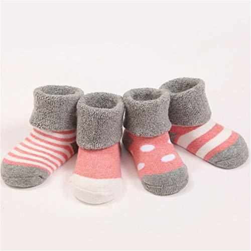 Weiche Baby Socken (Botreelife Cute Neugeborenen Baby Weiche Terry Socken Herbst Winter Infant Kleinkind Kinder Jungen Mädchen Socken (Farbe B, 0-6 monate))