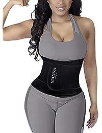 d87805b40d1 YIANNA Waist Trainer Belt Workout Belly Trimmer Sweat Slimming Body Shaper  for Women Men
