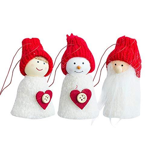 3 PCS eingestellt Weihnachtsdekoration Familiendekoration Weihnachtsbaum Anhänger nach Hause Urlaub Landschaftsbau Dekoration -