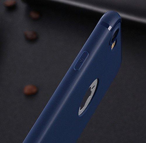 EKINHUI Case Cover Für Apple IPhone 7 weichen rückseitigen Abdeckungs-Fall, Shockproof Anti-Kratzer Matt Matt TPU Gel-schützende Stoßdämpfer-Normallack-Abdeckung ( Color : Red ) Blue