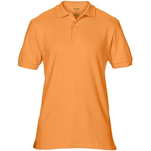 Gildan Mens Premium Double Pique Sport Shirt Tangerine