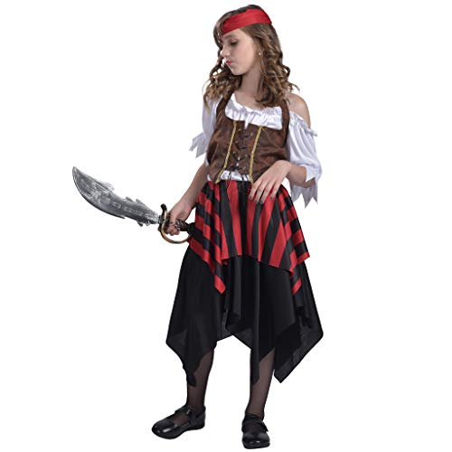 (EraSpooky Mädchen Piraten Matey Kostüm)