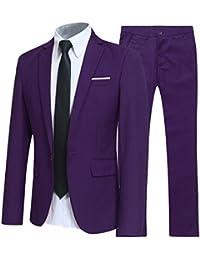 Costume Homme d affaire en cérémonie Mariage Veste et Pantalon Deux pièce  Slim fit 7ae3c0de990