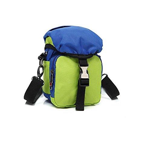 Z&N Modo creativo tasche piccole sacchetto d'attaccatura borsa Messenger borsa a tracolla casual borsa da viaggio uso quotidiano di uomini e donne portatileblack1L green