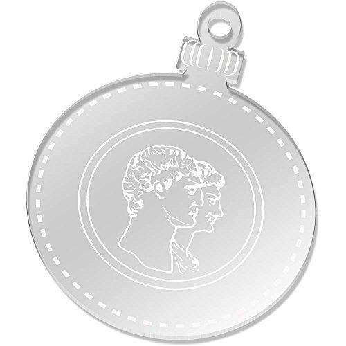 Azeeda 2 x 75mm 'Römische Münze' Klare Weihnachtsdekoration (CB00048969) (Display-münzen-satz)