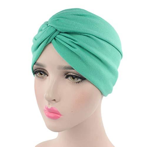 Ssowun Turban Chemo Hut Damen, Mützen Beanie Hüte Muslim Kopfbedeckung Headwraps Skull Cap Krebs Cap für Haarverlust Chemo Krebs Cap Chemotherapie EINWEG Verpackung (Herren Turban Hut)