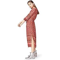 FIND 13672 vestidos mujer, Multicolor (Orange Mix), 38 (Talla del Fabricante: Small)