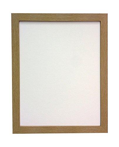 Frames by Post 25 mm breiter A2 H7 Bild-/Fotorahmen mit MDF-Beschichtung, Plastikscheibe, eichenfarben