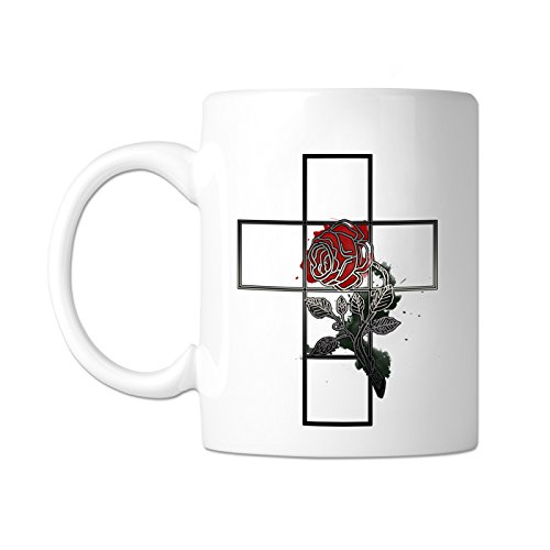 Rose Croix rot Rose 11Oz Kaffee Becher von The Freimaurer Exchange Rote Rose Becher
