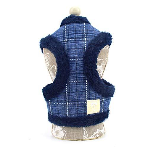 Yowablo Weste weiche japanische Kimono-Hundetuch-Haustier-Welpen-Katzen-Kleidung (42-62cm,3C)