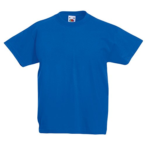 Kinder Hoodies Blau (Fruite of the Loom Kinder T-Shirt, vers. Farben 116,Royal Blau)