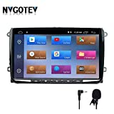 NVGOTEV Android 9.0 Autoradio navigatore GPS Compatibile per Golf, Single DIN Head Unit 1 DIN autoradio con Lettore CD Dvd Supporto GPS, USB, SD, FM AM RDS, DSP,Bluetooth,9 Pollici(2+32G)