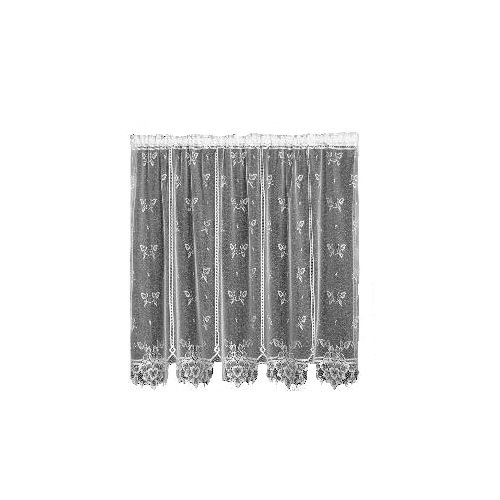 Heritage Lace Heirloom 60-Inch Wide by 45-Inch Drop Sheer Panel, White -