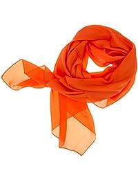 Neu B-Ware 100/% Seide Chiffon Damen Seiden-Schal Hals-Tuch Schmetterlinge Orange