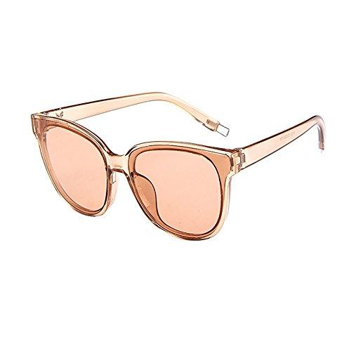 iCerber sonnenbrillen Elegant Niedlichen Charmant Fashion Damen Frauen Designer Übergroße Flat Top Cat Eye Verspiegelte Sonnenbrille UV 400 ❀❀2019 Neu❀❀(Mehrfarbig)
