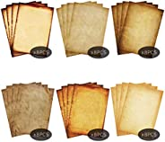 Stationary Paper 48 Pack Parchment Antique Colored Printed Paper, Stationery Vintage Letter Writting Paper for
