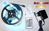 5 meter RGB Band mit 300 Hochleistungs LEDs Komplett Set mit Fernbedienung, Steuergerät und Netzteil 72 Watt