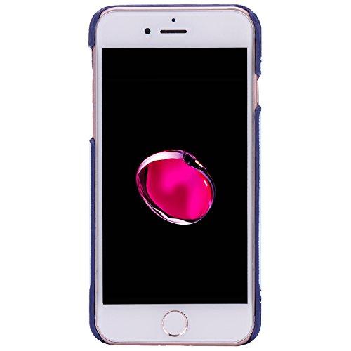 iPhone 7 Plus hülle,Ekakashop Niedlich Comic Style Bär Muster PC + TPU Weiche Silikon Praktisch Back Bumper Case Cover Defender Protective Schutzhülle Handyhülle Tasche Etui Schale für Apple iPhone 7  Gänsefeder