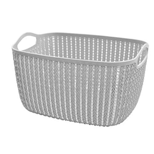 Panier de rangement JXM Carré Rotin Panier à provisions Petite boîte de Rangement en Plastique Salle de Bains Vêtements Sales Balcon Panier à débris (Taille : Style Ten)