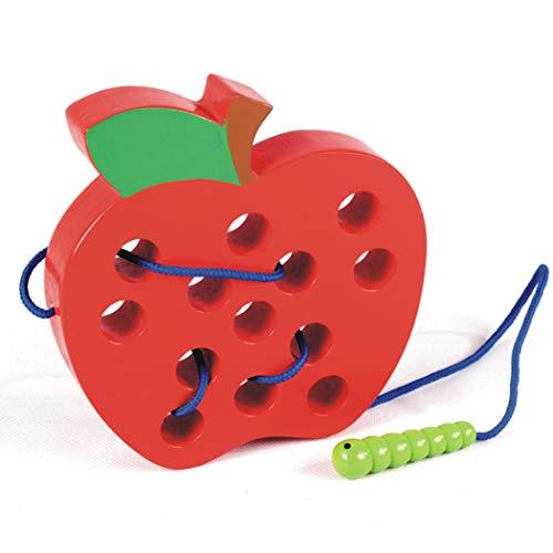 XWBO Kinder Holz Spielzeug Insekt Essen Apple Holz Puzzle-Spiele Kinderspielzeug Holzspielzeug Intelligentes Lernspielzeug Hölzernen Spielzeug für Jungen Mädchen (1-4 Jahre alt)