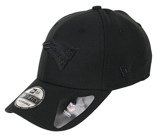 New Era BOB Team Poly 39Thirty Cap NEW ENGLAND PATRIOTS Schwarz Schwarz, Size:S/M