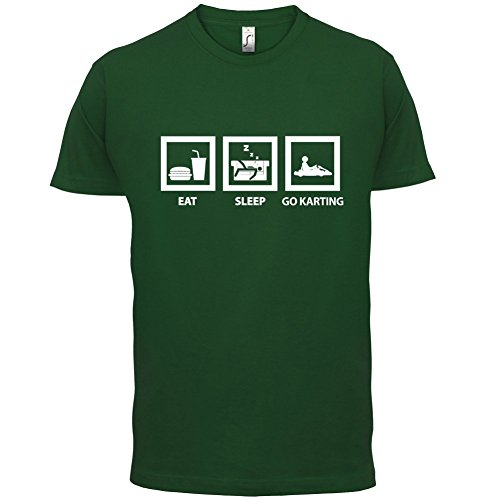 Eat Sleep Go Karting - Herren T-Shirt - 13 Farben Flaschengrün