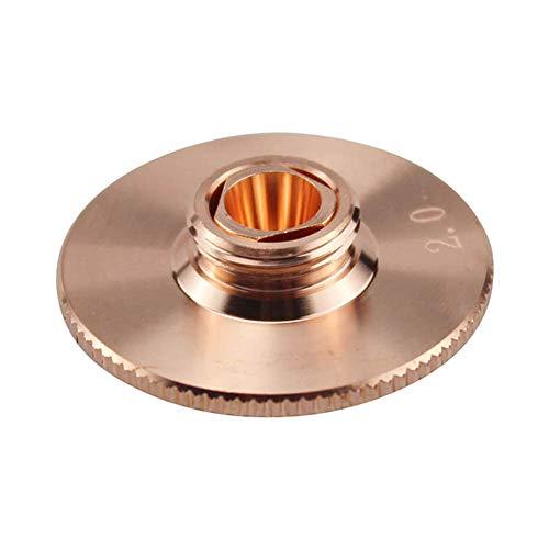 Crewell Doppelschichtdüse für Faserschneidemaschinenkopf Kupfer Ersatzteile