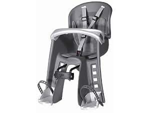 Polisport Fahrradkindersitz Fahrrad-Kindersitz Bilby Junior dunkelgrau/silber