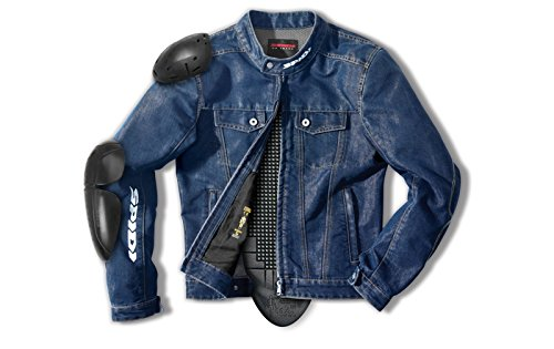 Spidi - Giacca da Moto Denim Furious, Blu, XL