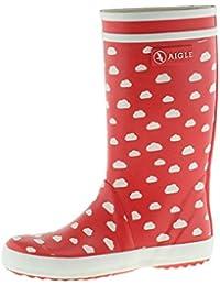 Aigle Lolly Pop Print 2527V niños (niño o niña) botas de goma, rojo, 22